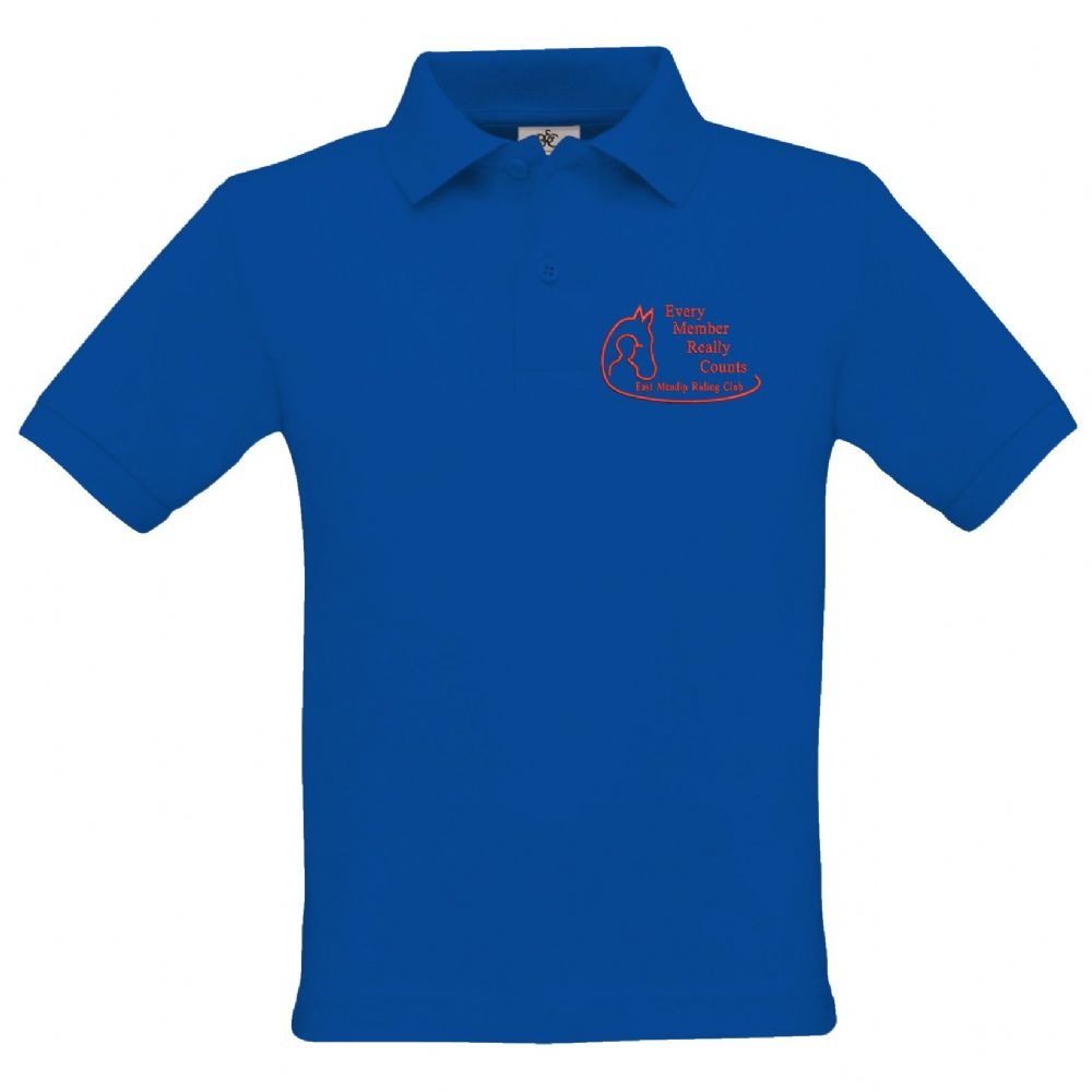 East Mendip Riding Club  Adults Royal Unisex Polo Shirt BA301